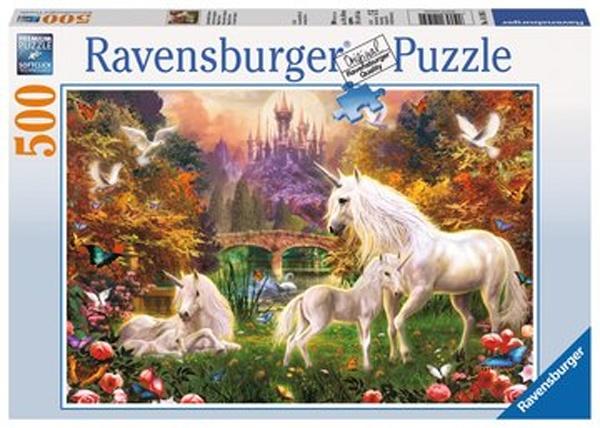 Ravensburger Puzzle Zauberhafte Einhörner, 500T.