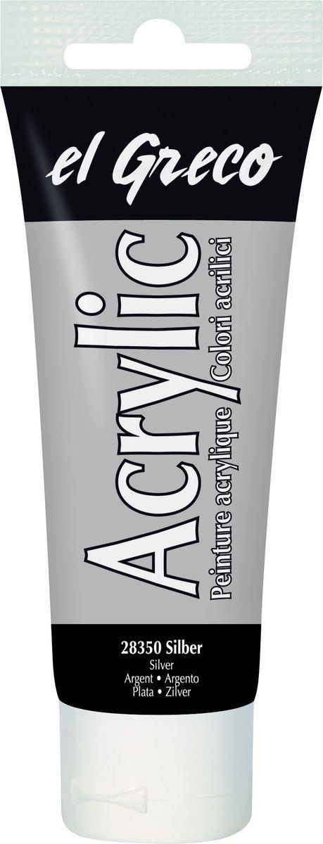 El greco Acrylic Acrylfarbe Silber 75ml