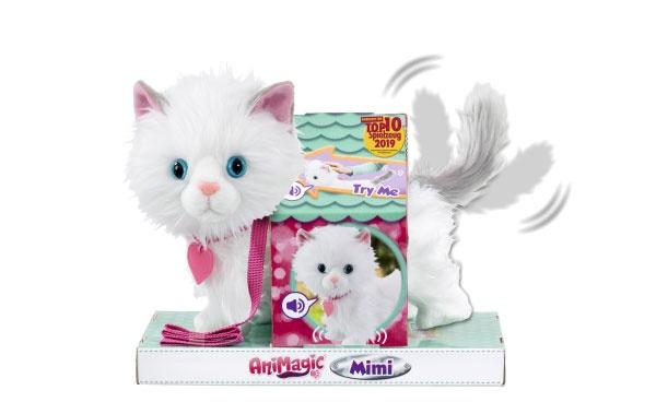 Animagic Mimi Katze weiß-grau