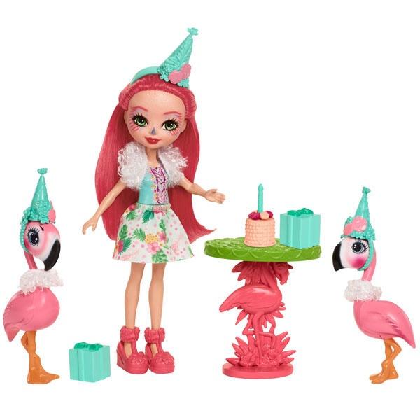 EnchanTimals Puppe Partyspaß Flamingos