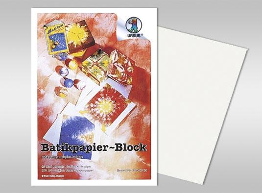 Batikpapier-Block DIN A4 25 Blatt weiß