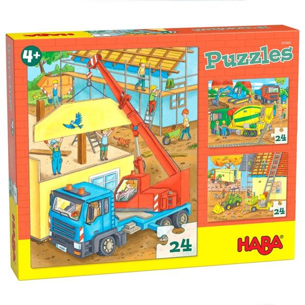 Haba Puzzles Auf der Baustelle