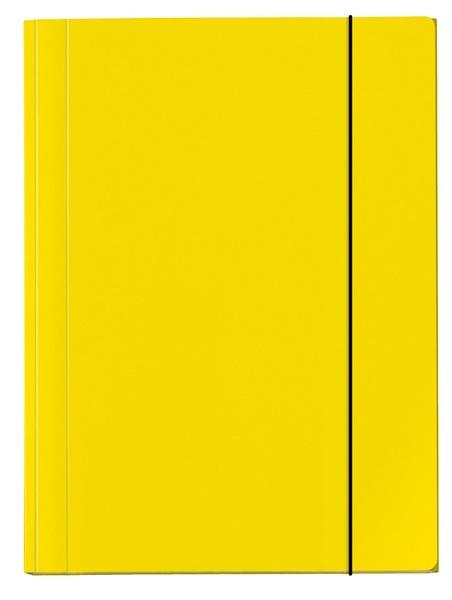 Sammelmappe A4 Velocolor gelb mit Gummizug von Veloflex