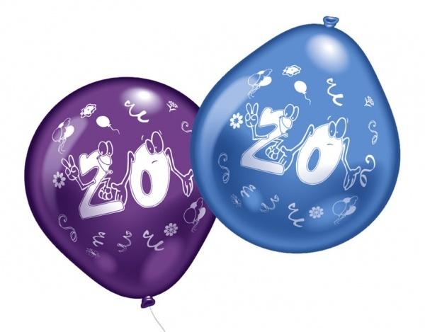 Luftballons mit Zahl 20 10 Stück