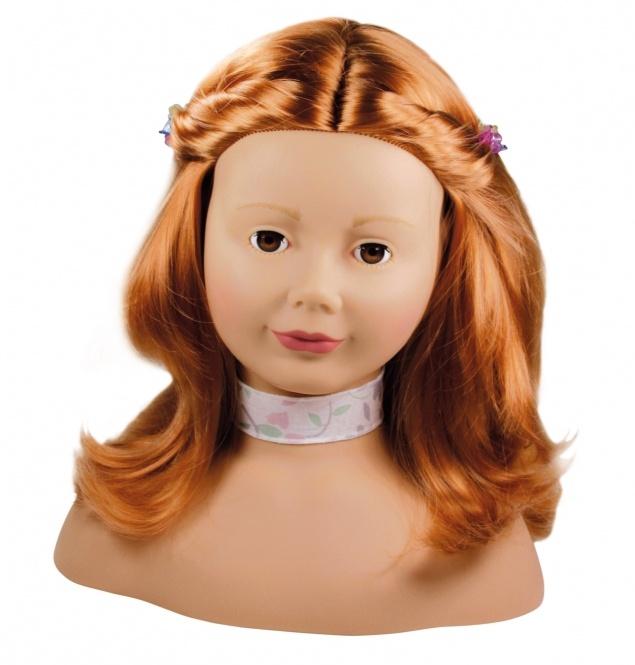 Götz Puppen Haarwerk Schminkkopf rot