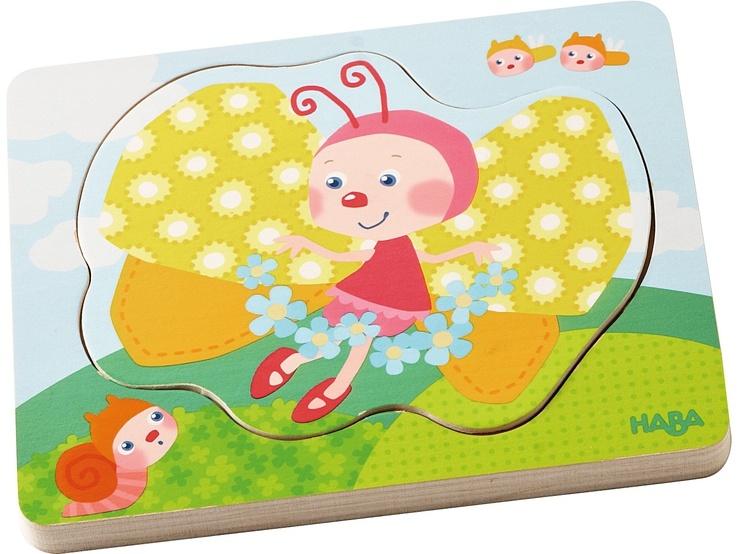 Haba 302533 Holzpuzzle Schmetterlingszauber