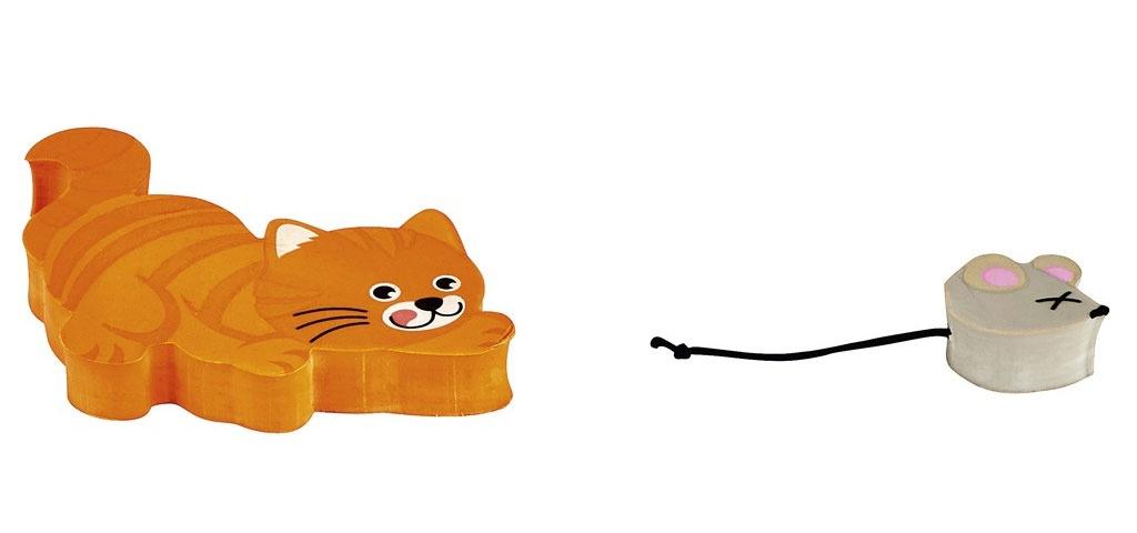 Radierer-Set Katz und Maus