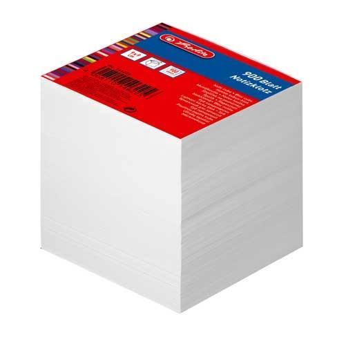 Notizklotz weiss 9 x 9 cm 900 Blatt von Herlitz