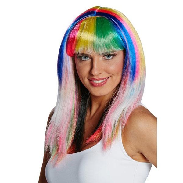 Kostüm-Zubehör Perücke Colourful