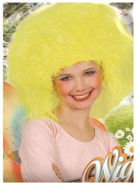 Kostüm-Zubehör Perücke Wuschelkopf gelb