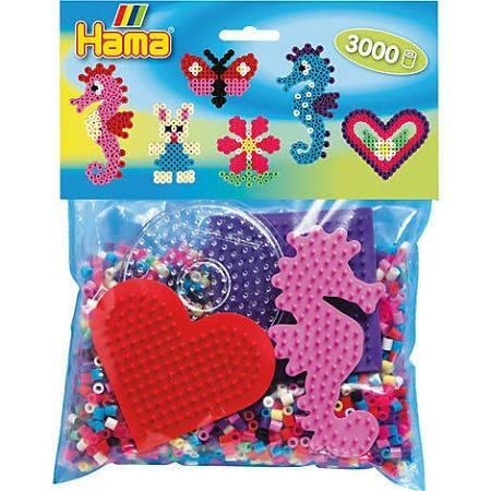 Hama Bügelperlen-Set mit farbigen Stiftplatten