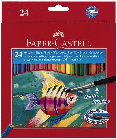 Faber Castell Kinder-Aquarell-Farbstift 24 Stück Packung