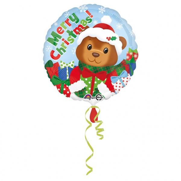 Folienballon Weihnachtsbärchen