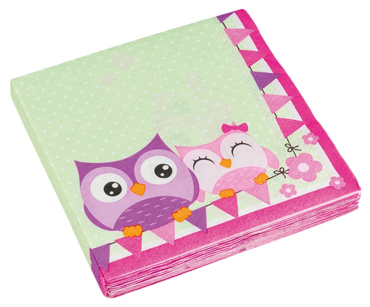 Servietten Happy Owl Eule