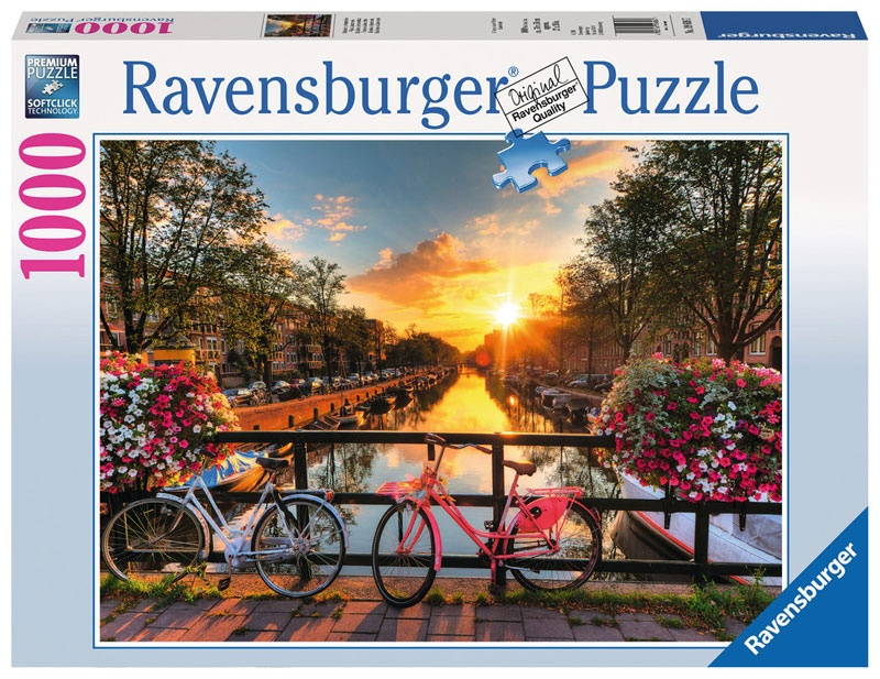 Ravensburger Puzzle Fahrräder in Amsterdam 1000 Teile