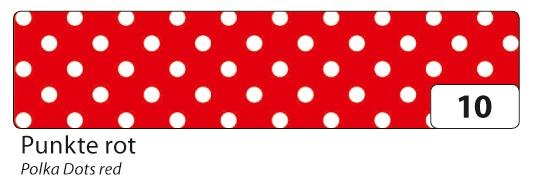 Folia Washi Tape Klebeband Punkte rot
