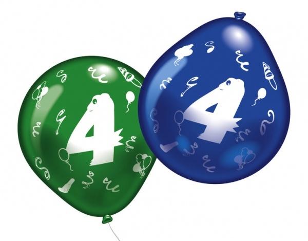 Luftballons mit Zahl 4 10 Stück