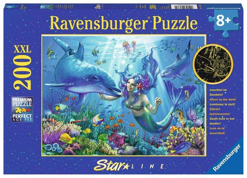 Ravensburger Puzzle Leuchtendes Unterwasserparadies 200 XXL