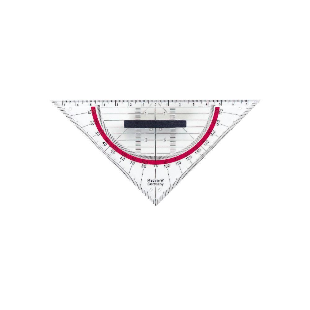 Herlitz Geo-Dreieck mit Griffleiste 14 cm