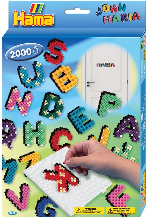 Hama Bügelperlen-Set Buchstaben Geschenkpackung 2000 Perlen