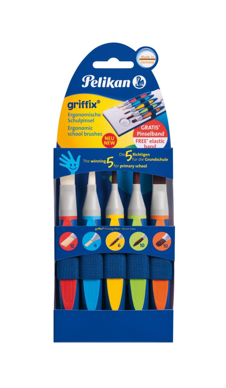 Pelikan Griffix Pinsel-Set 5 Stück Packung