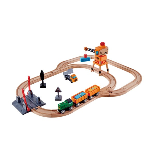 Hape Bahnübergang und Kran-Set (Eisenbahn)