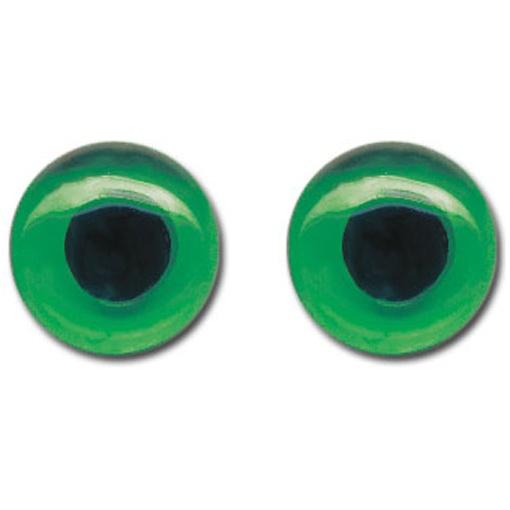 Katzenaugen aus Glas 8 mm grün