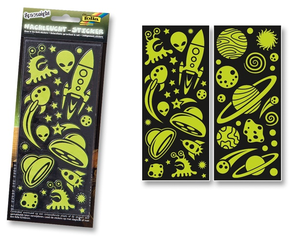 Folia Nachtleucht-Sticker Spacenight