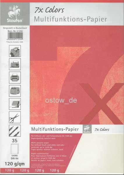 Multifunktionspapier 120g Kopierpapier creme