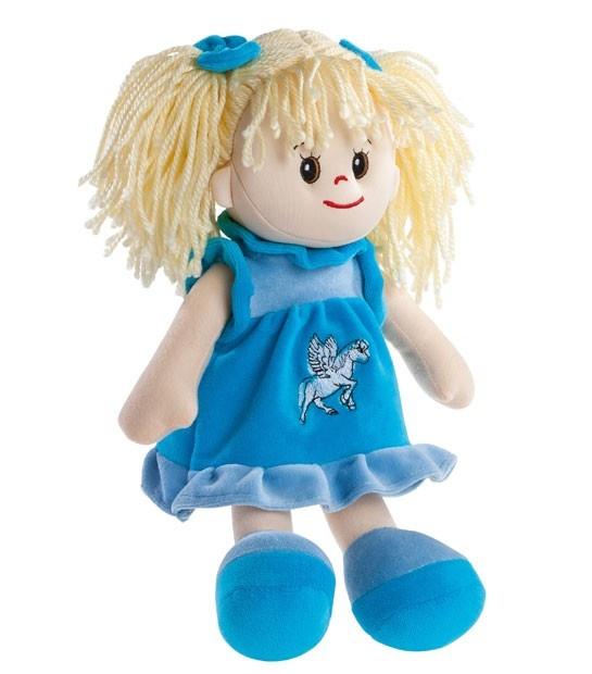 Poupetta Stoffpuppe Sindy blondes Haar 30cm