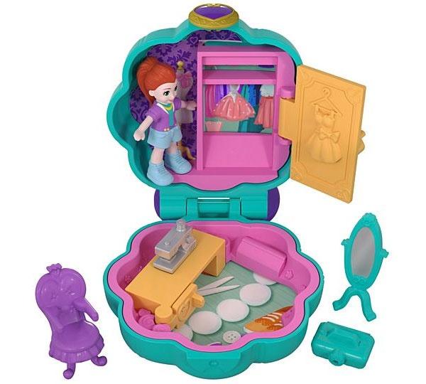 Polly Pocket Mini-Schatulle Kleiderschrank FRY31 von Mattel