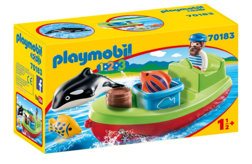 Playmobil 70183 1.2.3 Seemann mit Fischerboot