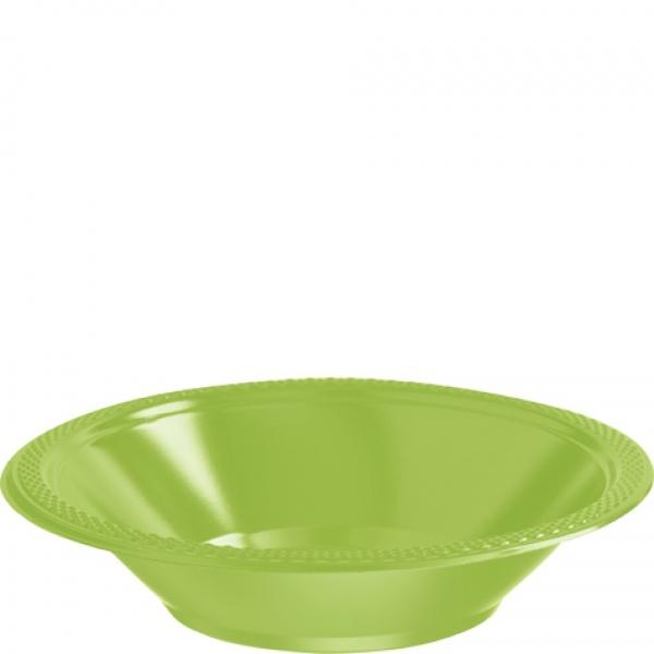 Partyschüsseln  Kunststoff 10 Stück  kiwi grün