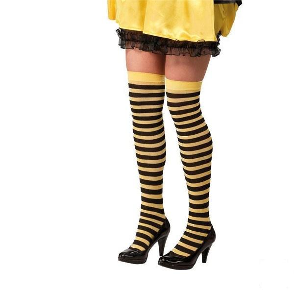 Kostüm-Zubehör Bienchen-Strümpfe
