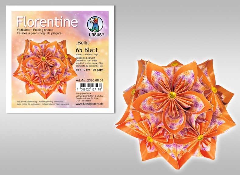 Faltblätter Florentine Bella 15x15 cm