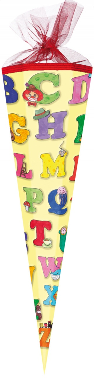 Schultüte ABC Alphabet 85 cm