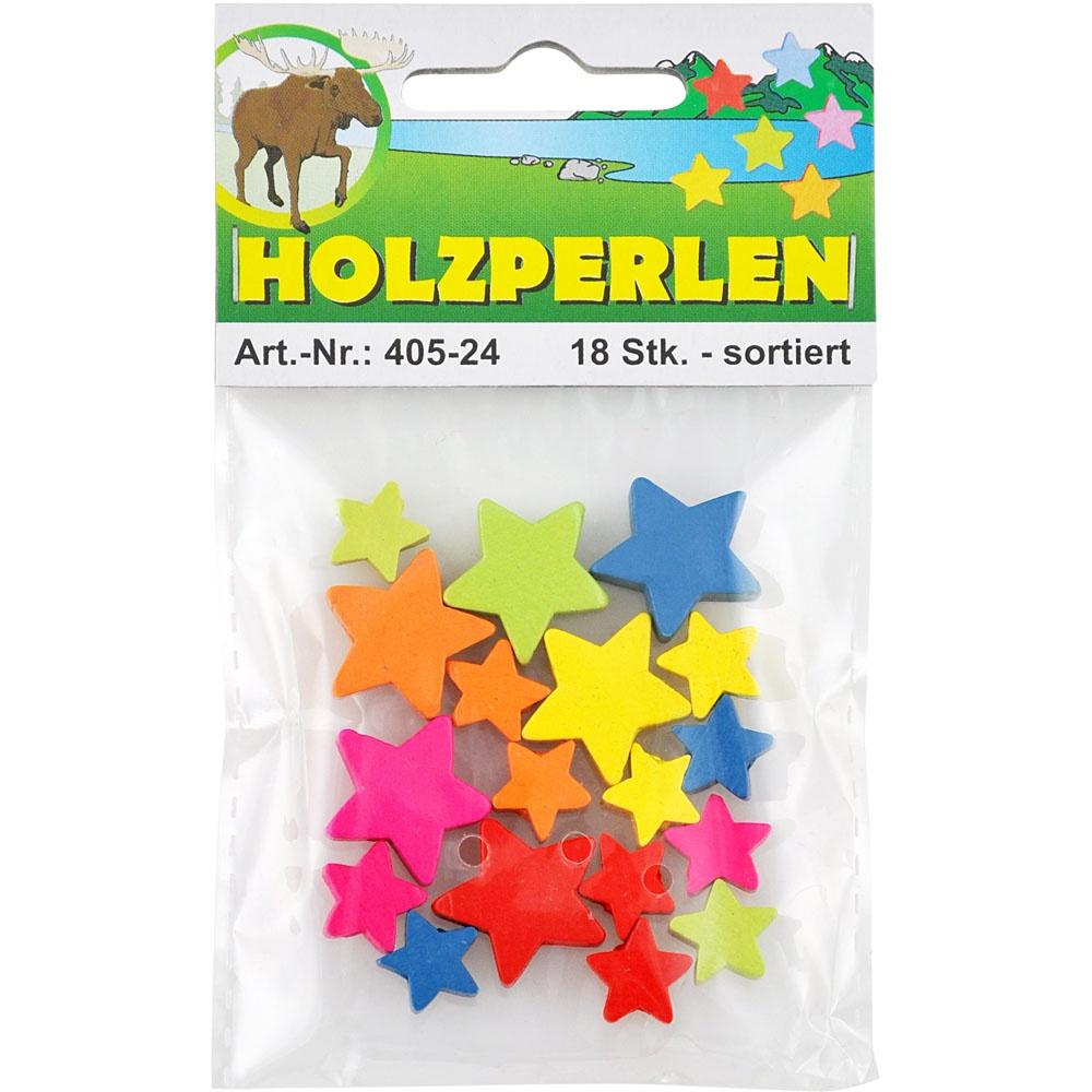 Bastel-Holzperlen  Sterne