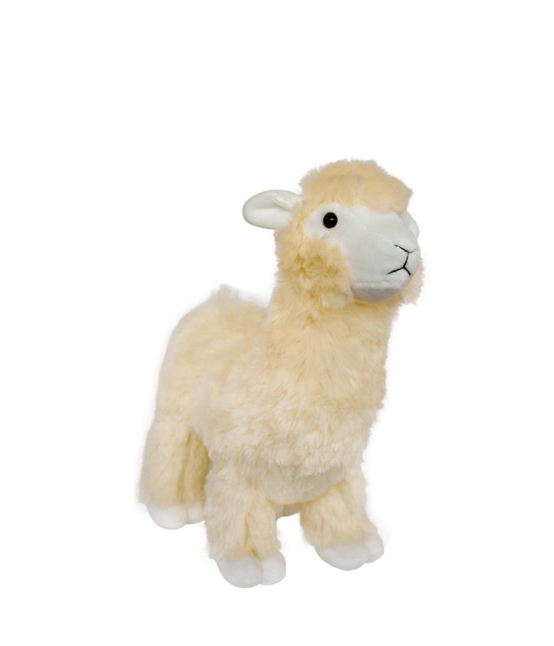 Plüschfigur Franky das Lama beige 28 cm