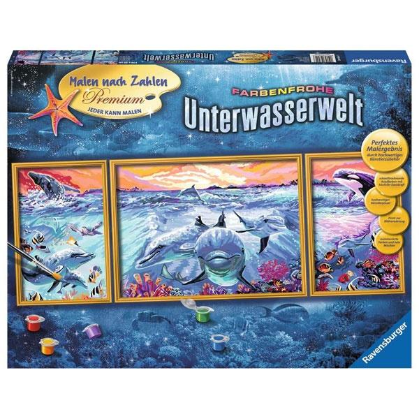 Ravensburger Malen nach Zahlen Farbenfrohe Unterwasserwelt