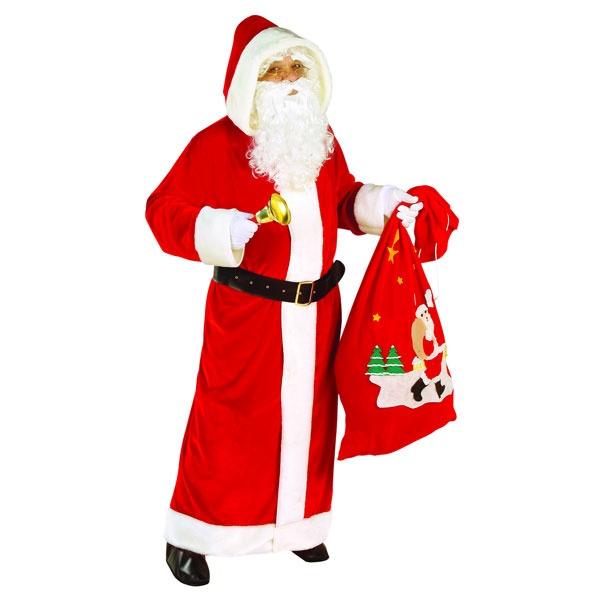 Kostüm Weihnachtsmann aus Samt Santa