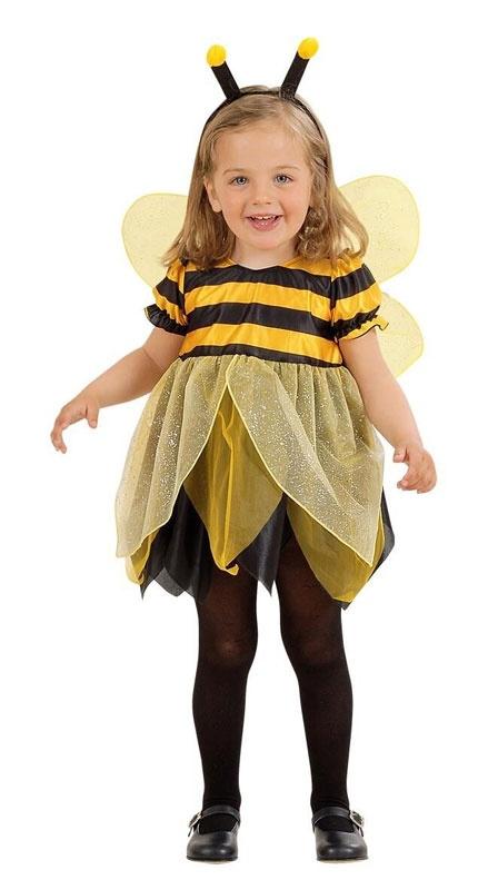 Kostüm Biene Gr. 104 (Kleid, Flügel, Antennen)