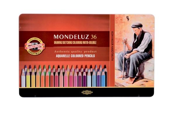 KOH-I-NOOR Mondeluz Künstler Aquarell-Farbstifte 36 Stück