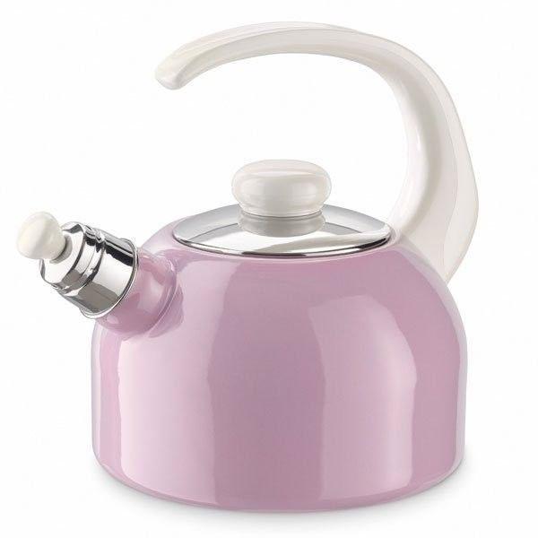 Riess Emaille Flöten-Wasserkessel 2l rosa