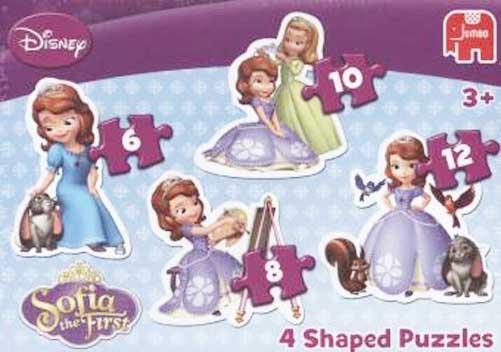 Jumbo Puzzle Disney Sofia die Erste 4 Konturenpuzzle
