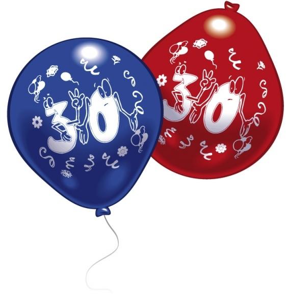 Luftballons mit Zahl 30 10 Stück