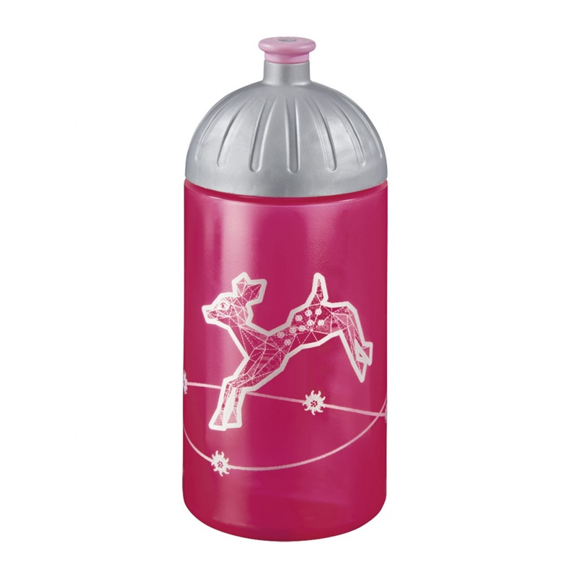 Step by Step Modern Deer Trinkflasche pink