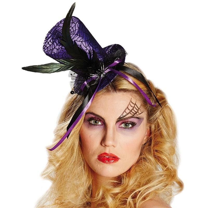 Kostüm-Zubehör Halloween Zylinder Spinnennetz