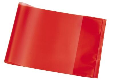 Hefthülle A5 quer rot transparent