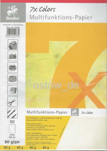 Multifuntionspapier 80g Kopierpapier creme