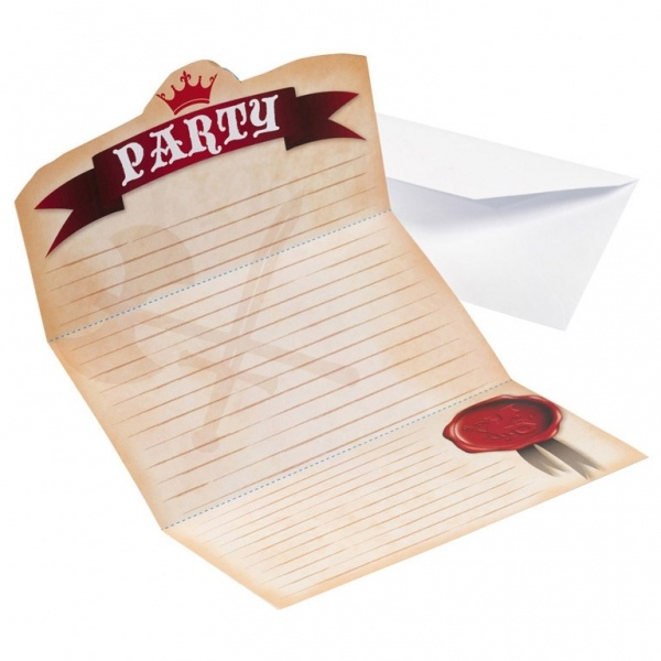 Einladungskarten Ritter